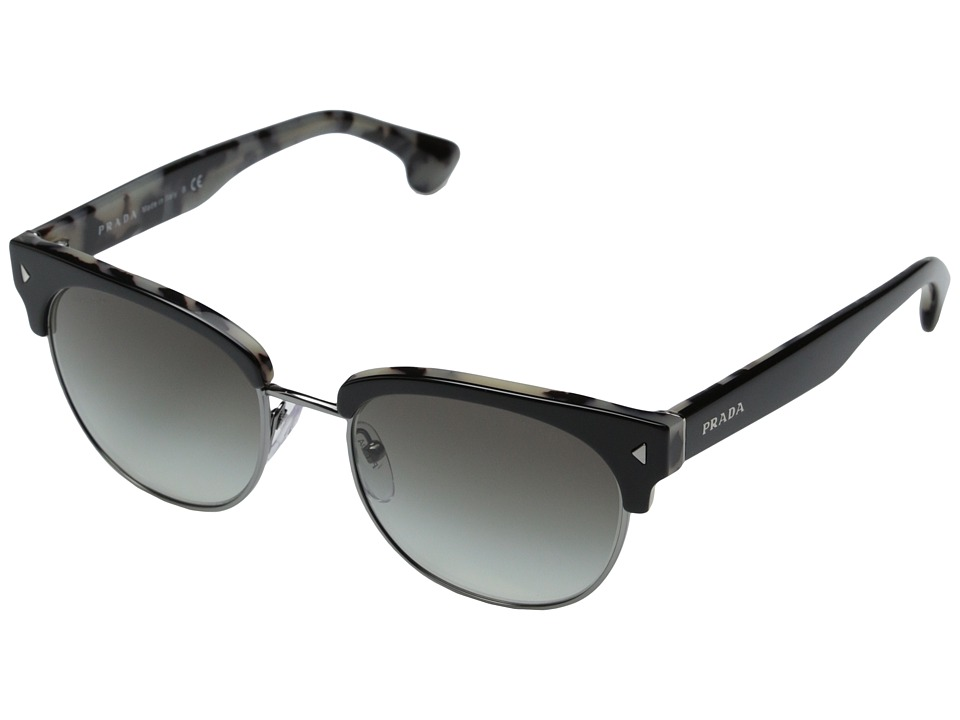 Prada PR 08QS Top Black/White Havana/Grey Gradient Fashion Sunglasses