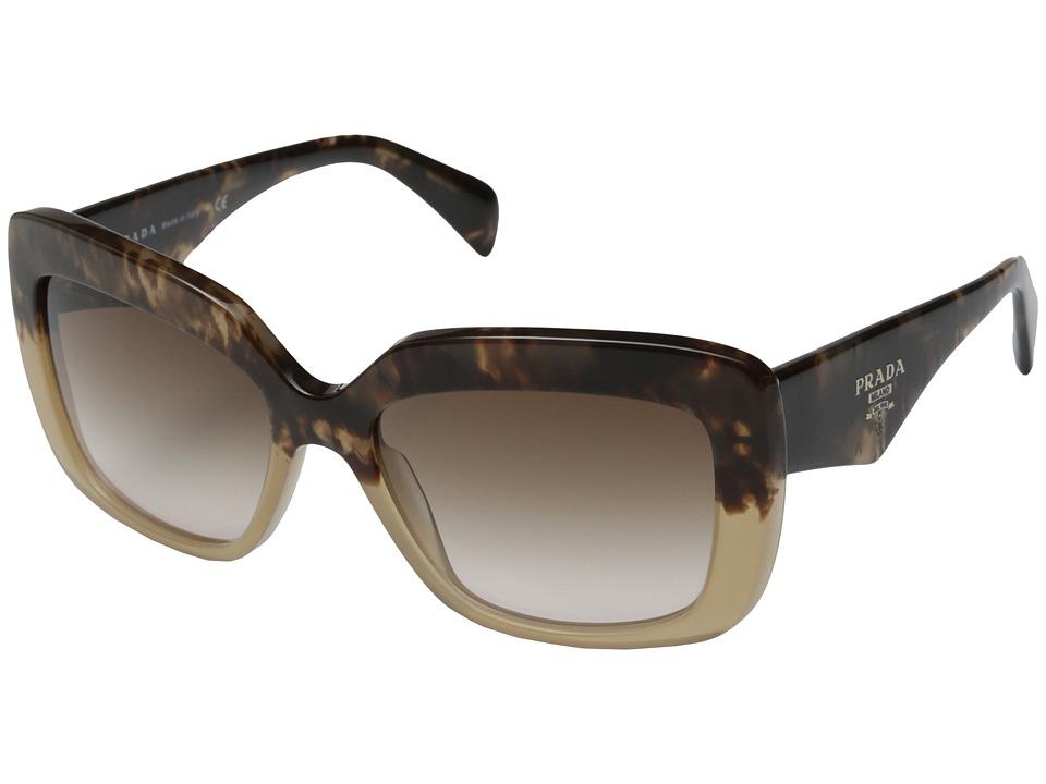 Prada PR 03QS Brown Havana/Brown Gradient Fashion Sunglasses