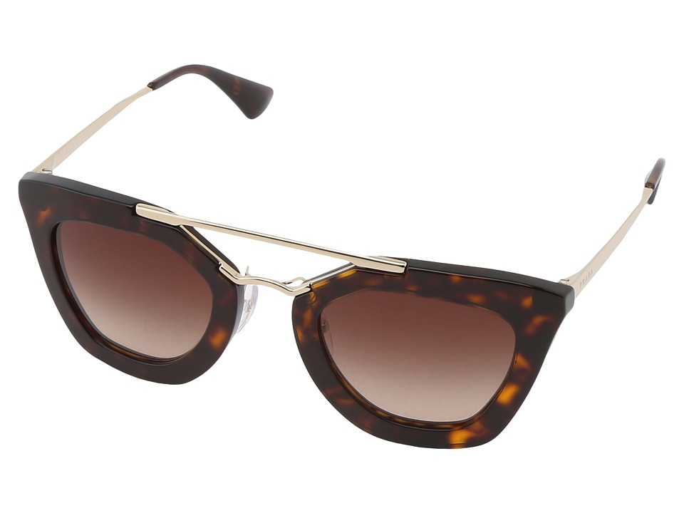 Prada 0PR 09QS Havana/Brown Gradient Plastic Frame Fashion Sunglasses