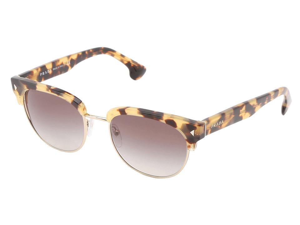 Prada PR 08QS Medium Havana/Grey Gradient Fashion Sunglasses