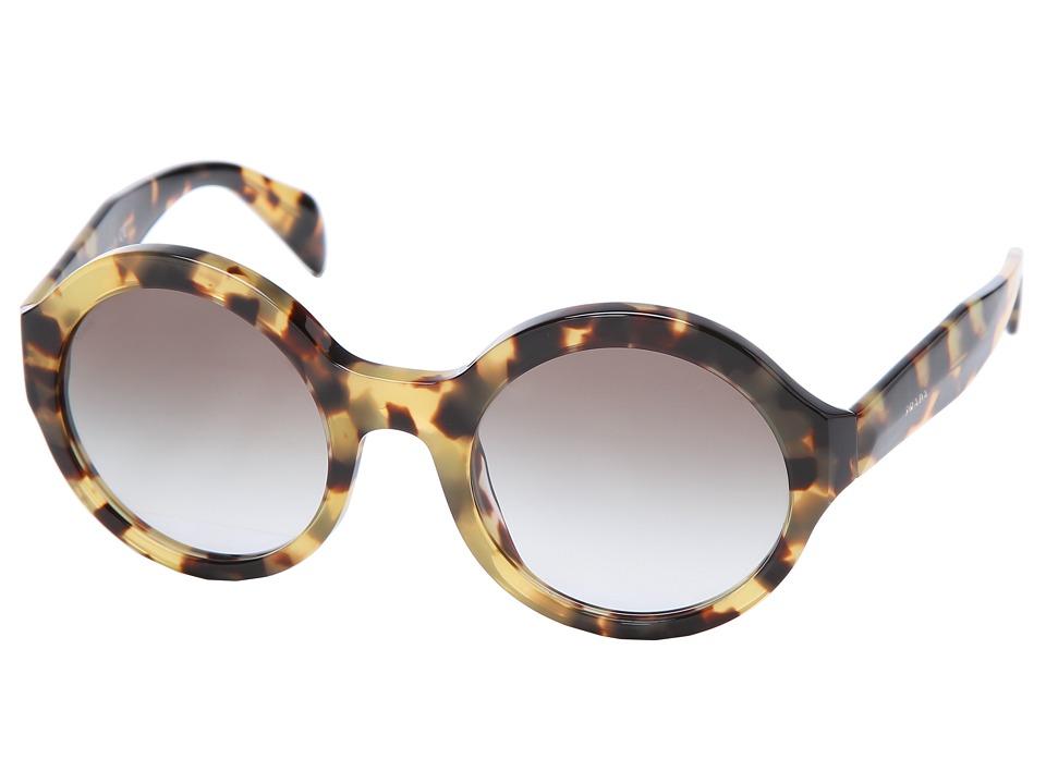 Prada PR 06QS Medium Havana/Grey Gradient Plastic Frame Fashion Sunglasses