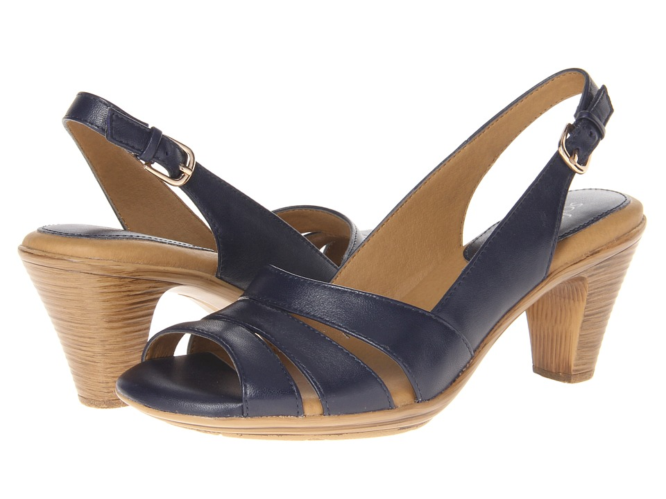 Comfortiva Neima - Soft Spots (Navy Velvet Sheep Nappa) Women's Dress Sandals