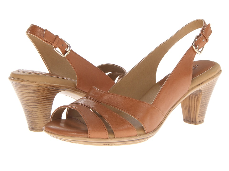 Comfortiva Neima Soft Spots (Luggage Velvet Sheep Nappa) Sandals