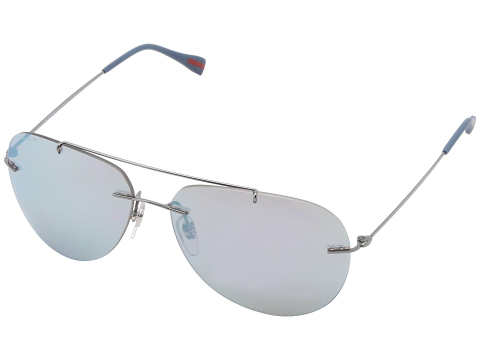 Prada Linea Rossa 0PS 50PS Gunmetal/Mirror Blue Fashion Sunglasses