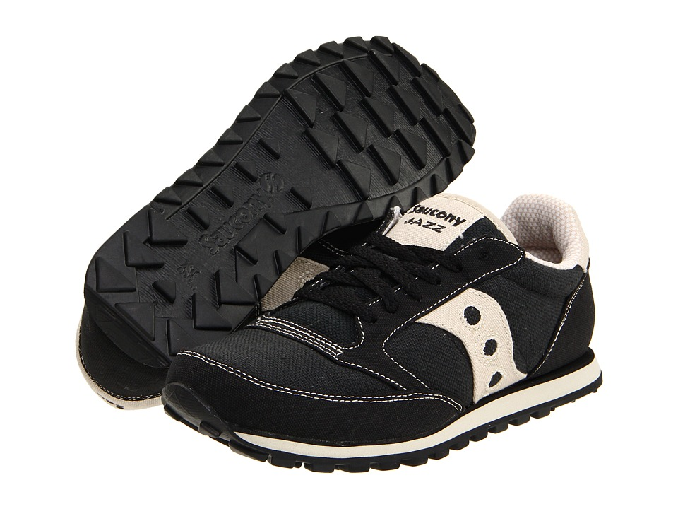 Saucony Originals - Jazz Low Pro Vegan (Black/Oatmeal) Mens Classic Shoes