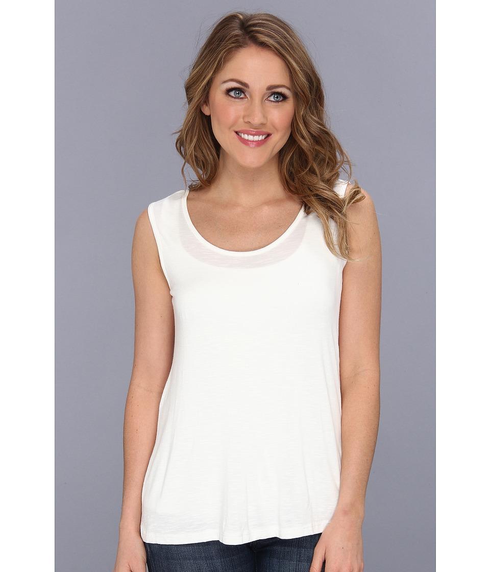 Miraclebody Jeans Tori Tank Top w/ Body Shaping Inner Shell Ivory Womens Sleeveless