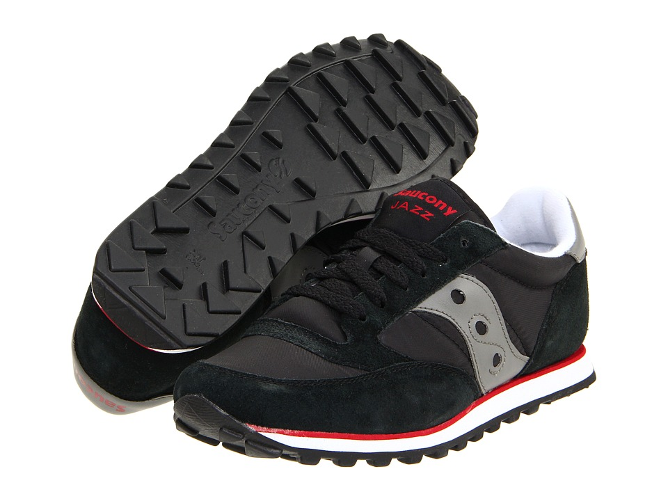 Saucony Originals - Jazz Low Pro (Black/Dark Gray/Red) Men