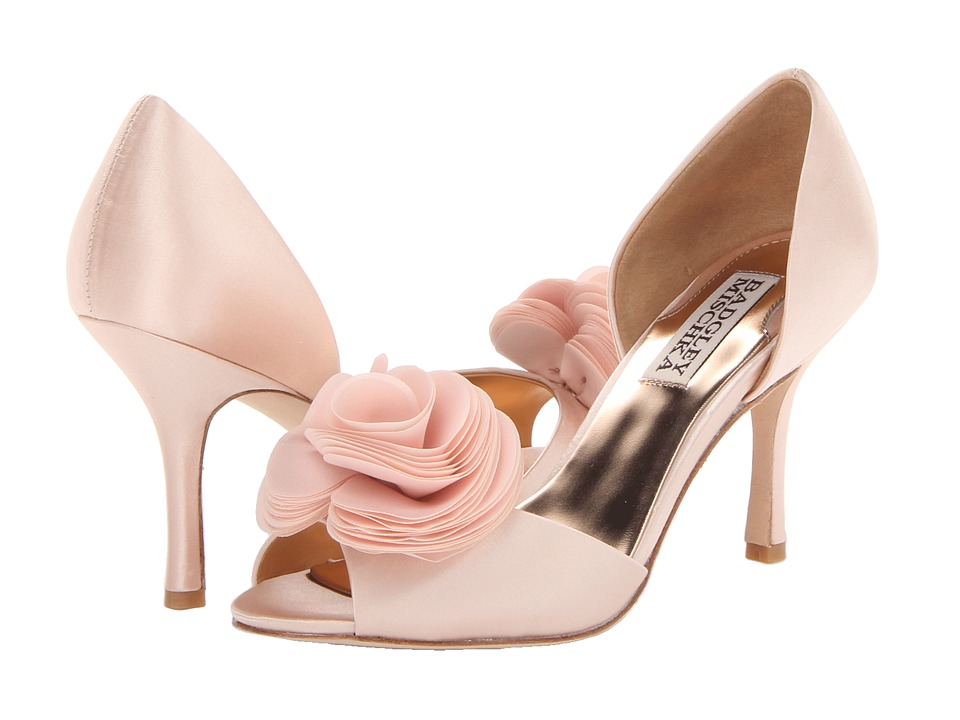 Badgley Mischka - Thora (Pink Satin) High Heels