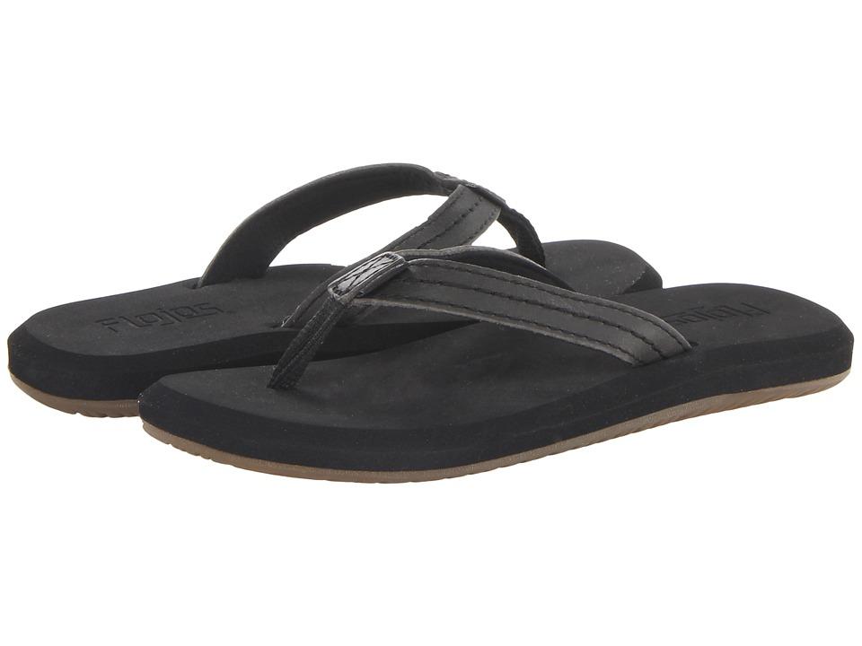 Flojos Peyton Black Womens Sandals