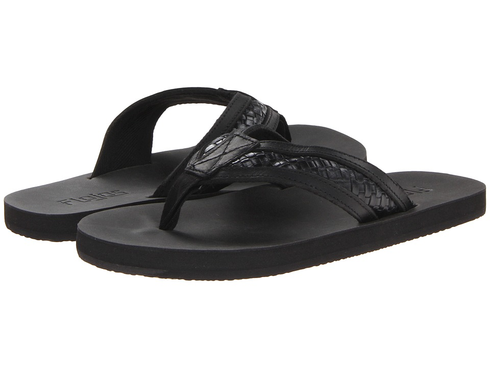 Flojos Brady Black Mens Sandals