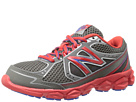 New Balance Kids KJ750 Little Kid, Big Kid Grey, Red Shoes