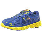 New Balance Kids KJ750 Little Kid, Big Kid Blue, Yellow Shoes