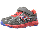New Balance Kids KV750 Infant, Toddler Grey, Red Shoes