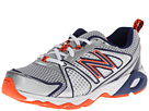 New Balance Kids KJ696 Little Kid, Big Kid White, Vision Blue Shoes
