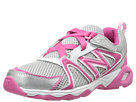 New Balance Kids KV696 Little Kid, Big Kid Silver, Pink Shoes