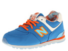 New Balance Kids KL574 Infant, Toddler Blue, Orange Shoes