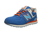 New Balance Kids KL574 Little Kid Blue, Orange Shoes