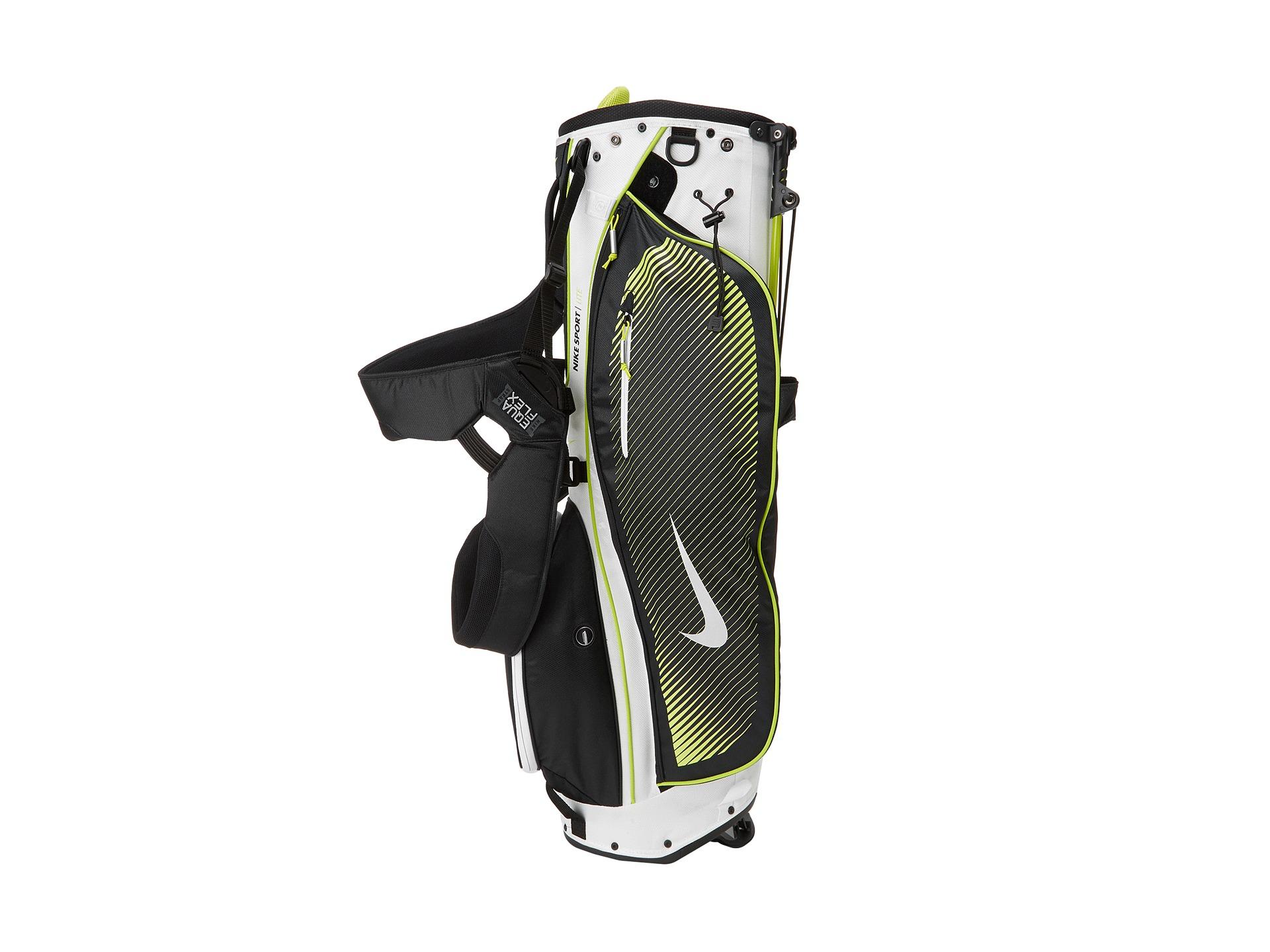 Nike Golf Sport Lite Carry Bag WhiteSilverVenom Green