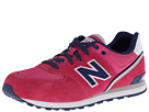 New Balance Kids KL574 Big Kid Pink, Navy, Grey Shoes
