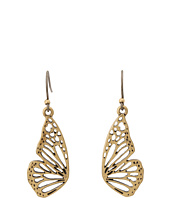Lucky Brand - Washed Denim Wing Drop Earrings