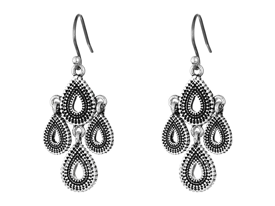 Lucky Brand - Blue Moon Moveable Tribal Chandelier Earrings (Silver) Earring
