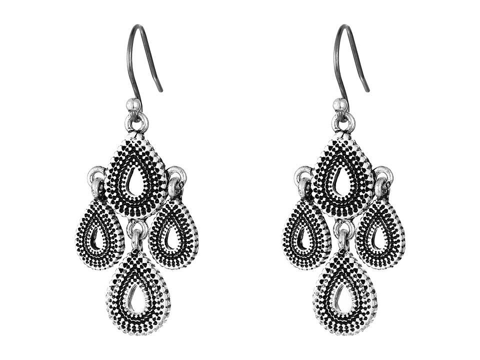 Lucky Brand - Blue Moon Moveable Tribal Chandelier Earrings (Silver) Earring