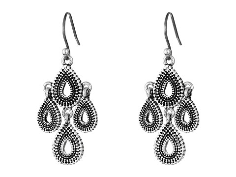Lucky Brand Blue Moon Moveable Tribal Chandelier Earrings - Silver