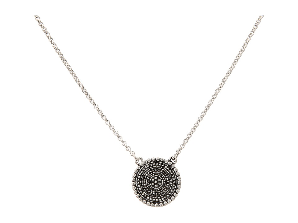 Lucky Brand - Indigo Trail Tribal Pendant Necklace (Silver) Necklace