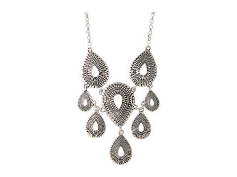 Lucky Brand Indigo Trail Tribal Collar Necklace - Silver