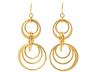 LAUREN Ralph Lauren - Round Hill Medium Orbital Ring Double Gypsy Hoop Earrings (Gold)