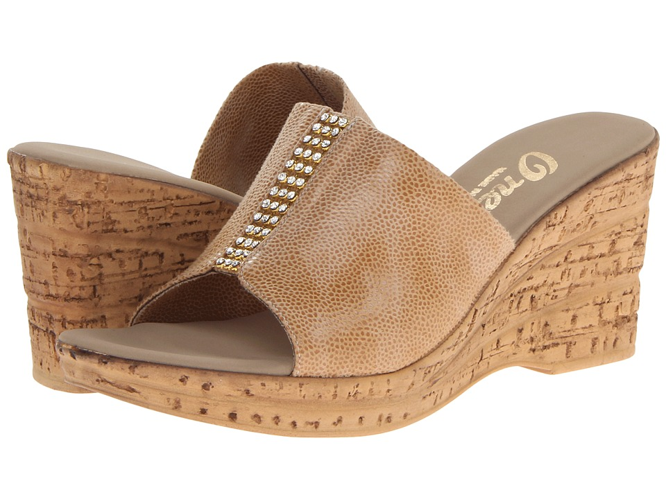 Onex - Billie (Beige Eldorado Elastic) Womens Slide Shoes