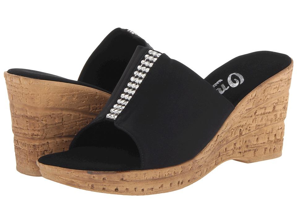 Onex Billie Black/Silver Womens Slide Shoes