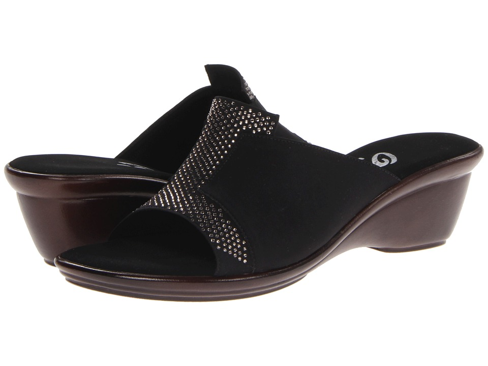 Onex Andi Black/Silver Womens Slide Shoes