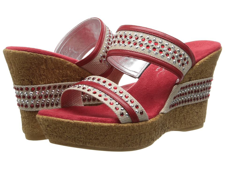 Onex Breeze (Red Leather) Women's Wedge Shoes