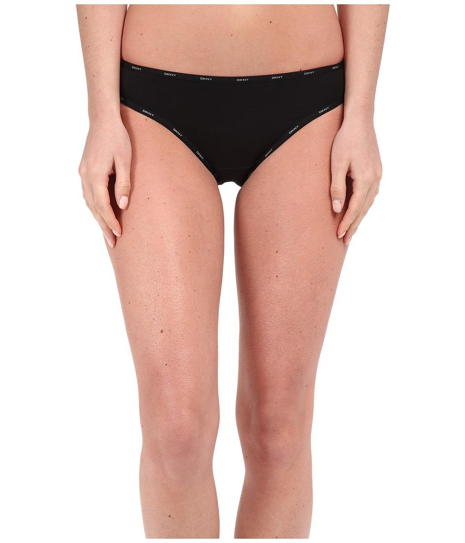 DKNY Intimates Comfort Classics Bikini Panty Black/Gray Sky Womens Underwear