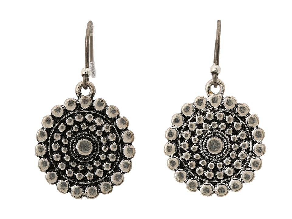 Lucky Brand - Blue Moon Tribal Drop Earrings (Silver) Earring