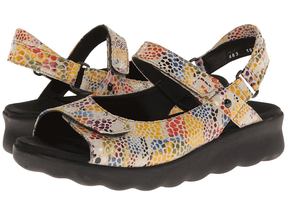 Wolky Pichu Neutral Multi Color Fantasy Womens Sandals