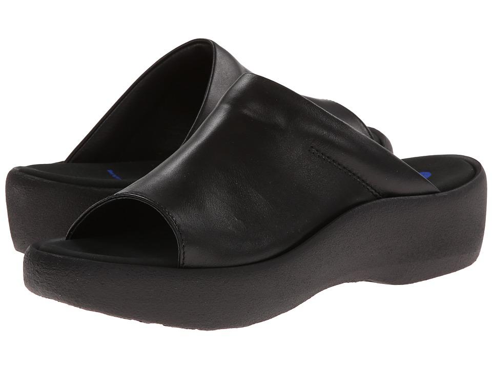 Wolky Nassau Black Smooth Womens Sandals