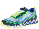 Reebok - Zigultra Crush (White/Vital Blue/Reebok Navy/Neon Yellow/Black) -