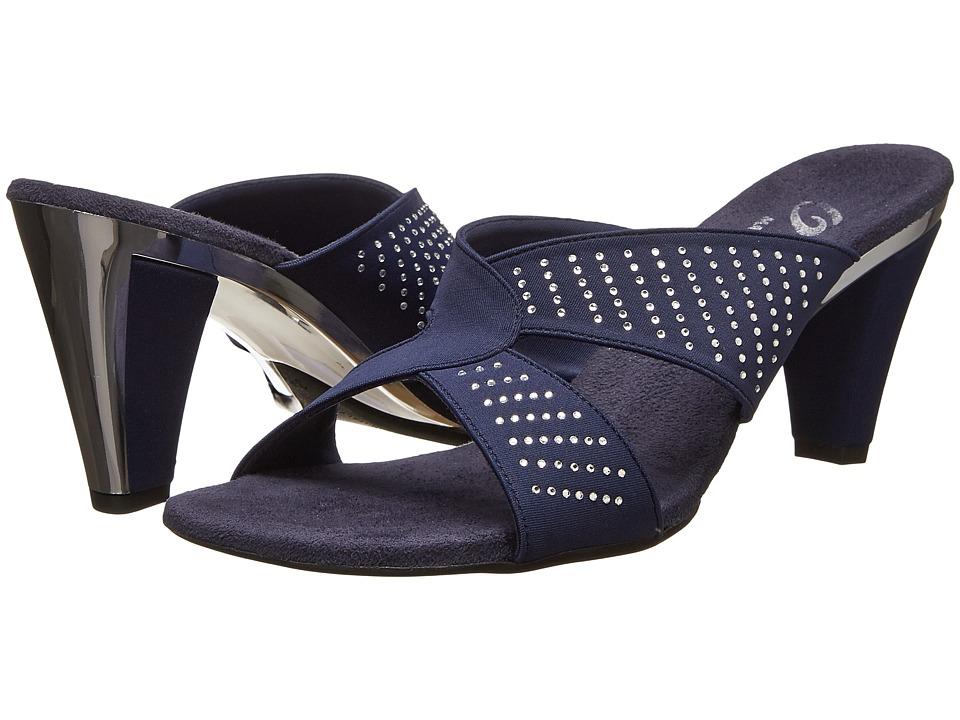 Onex Adelle Navy Elastic Womens Dress Sandals