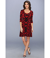 Karen Kane - Infrared Graphic Flare Dress