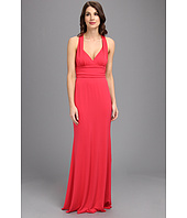 Nicole Miller - Stretchy Matte Jersey Halter Gown