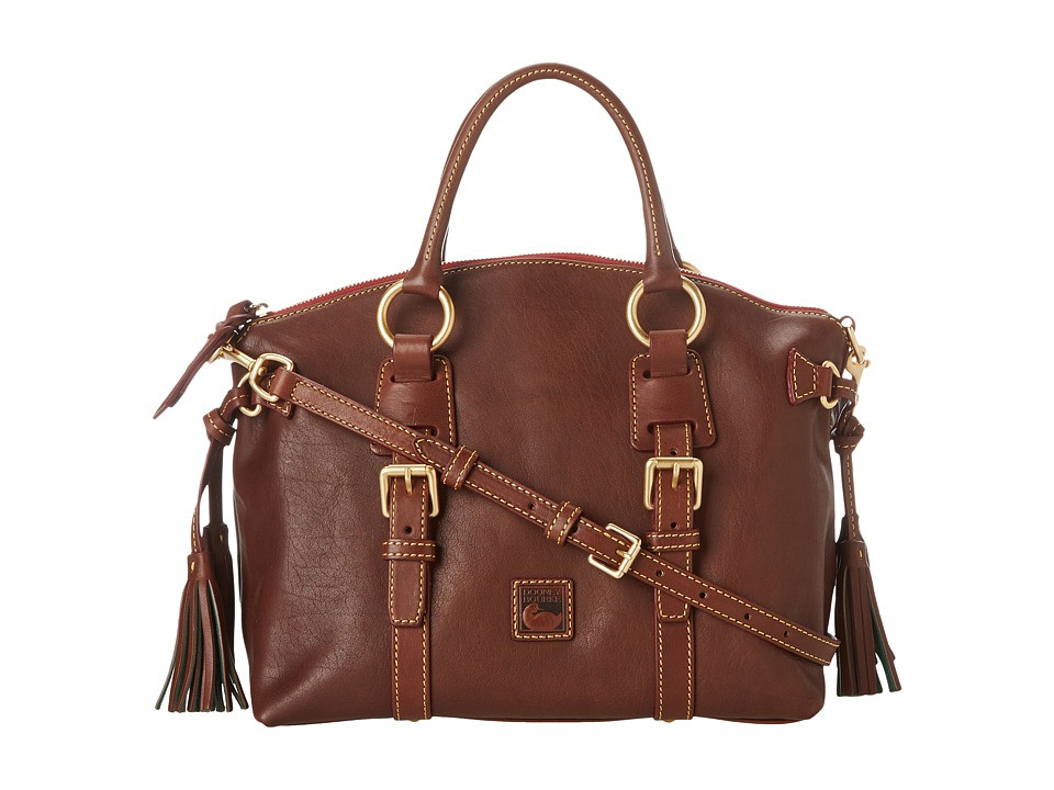 Dooney & Bourke - Florentine Bristol Satchel (Chestnut) Satchel Handbags