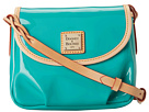 Dooney & Bourke Patent Flap Pleated Crossbody