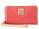 Dooney & Bourke Patent Zip Around Credit Card Phone Wristlet