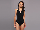 KAMALIKULTURE - Halter Side Draped Mio Swimsuit (Black)