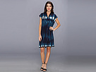 Elie Tahari - Dallas Dress E106P604 (Navy Yard) - Apparel