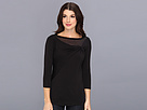 Elie Tahari - Katie Knit Top E1533514 (Black) - Apparel