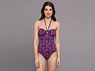 KAMALIKULTURE - Bandeau Jason Mio Swimsuit (Lobster-Red/Blue)