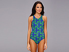 KAMALIKULTURE - Racer Mio Swimsuit (Lobster-Green/Blue) - Apparel